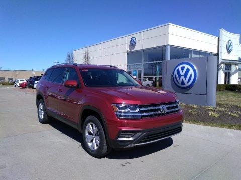 Fortana Red Metallic 2019 Volkswagen Atlas S 4Motion