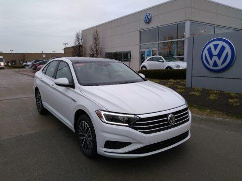 Pure White 2019 Volkswagen Jetta SEL