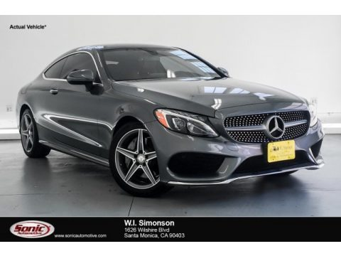 Selenite Grey Metallic 2017 Mercedes-Benz C 300 Coupe
