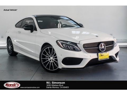 Polar White 2017 Mercedes-Benz C 300 Coupe