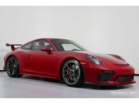 Carmine Red 2018 Porsche 911 GT3
