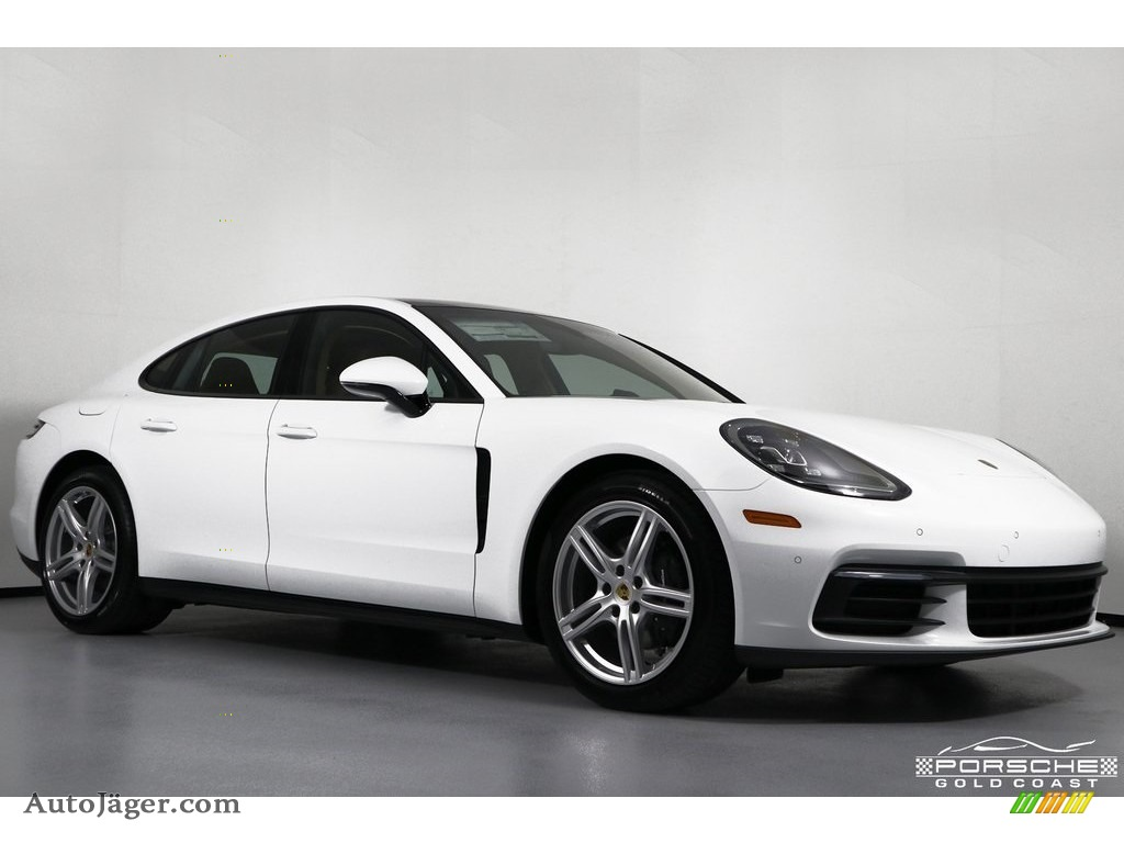 2019 Panamera 4 - White / Black/Luxor Beige photo #1