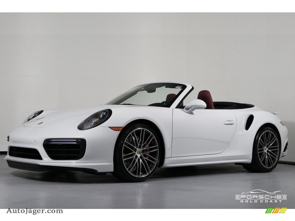 2019 911 Turbo Coupe - White / Bordeaux Red photo #3