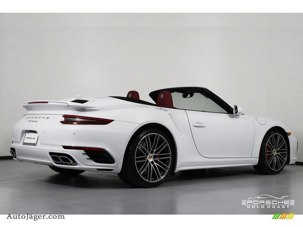 2019 911 Turbo Coupe - White / Bordeaux Red photo #9