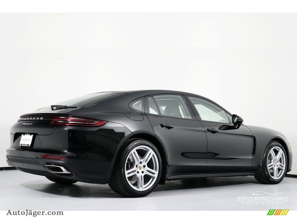 2019 Panamera 4 - Black / Black/Luxor Beige photo #9