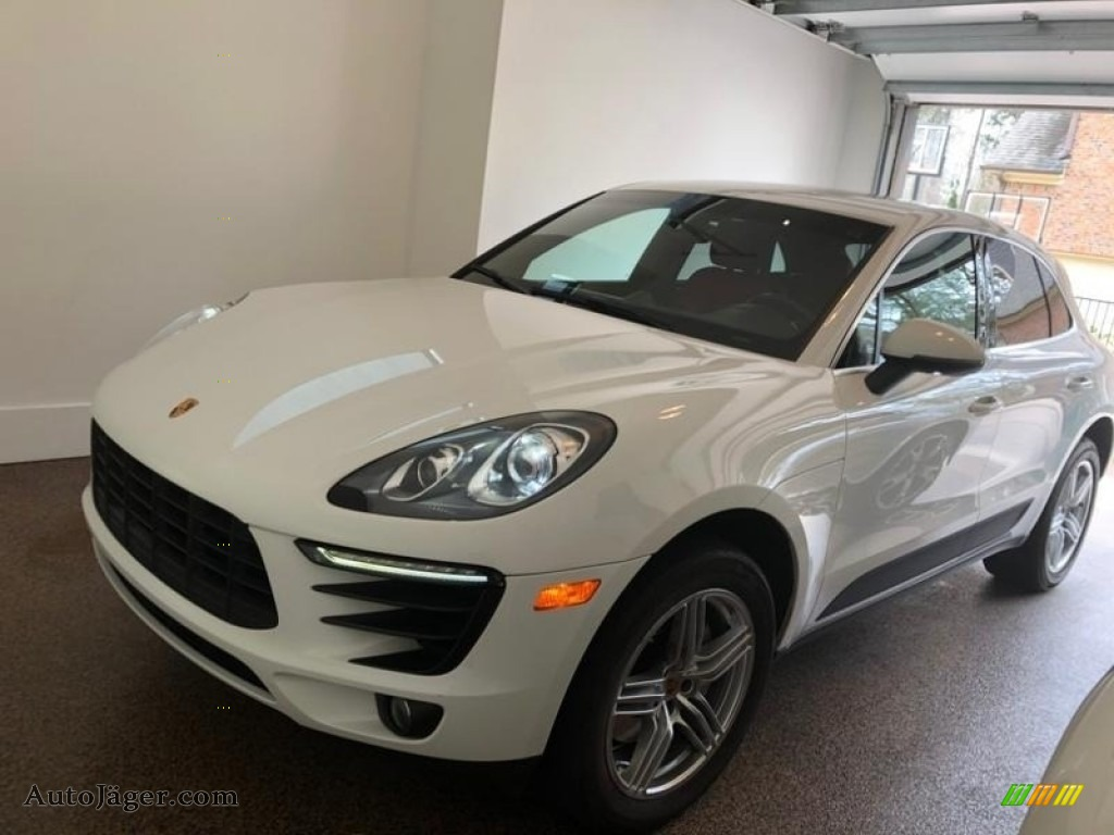 2015 Macan S - White / Black/Garnet Red photo #1