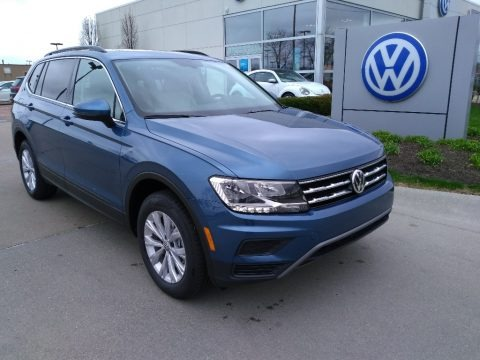 Blue Silk Metallic 2019 Volkswagen Tiguan SE 4MOTION