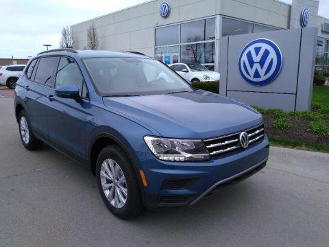 Blue Silk Metallic 2019 Volkswagen Tiguan S 4MOTION