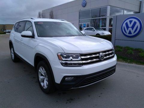 Pure White 2019 Volkswagen Atlas SE 4Motion