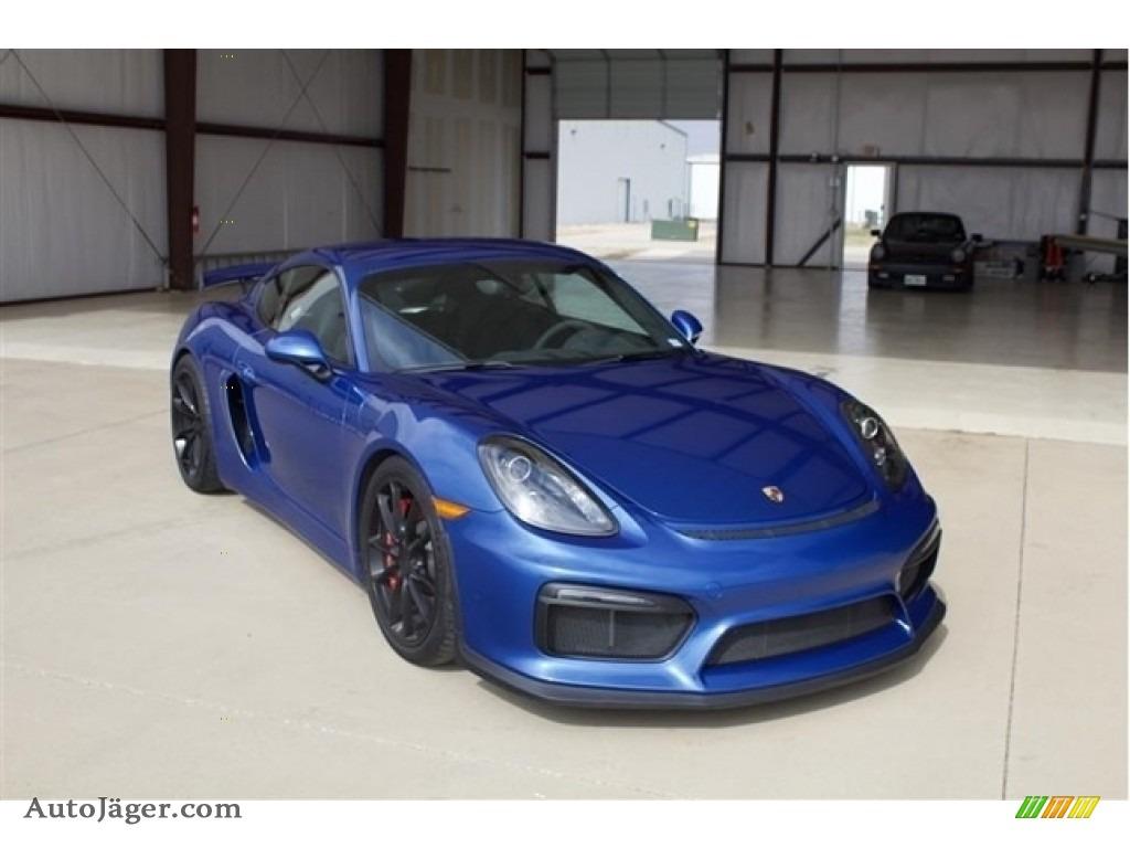 2016 Cayman GT4 - Sapphire Blue Metallic / Black photo #1