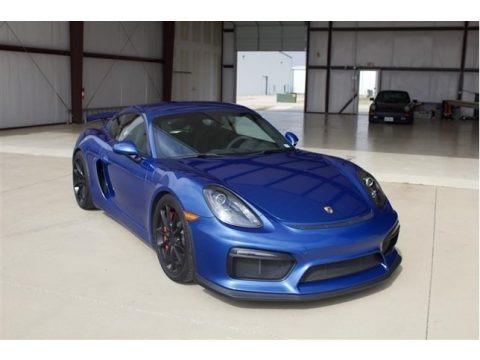 Sapphire Blue Metallic 2016 Porsche Cayman GT4