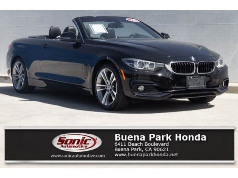 Jet Black 2018 BMW 4 Series 430i Convertible