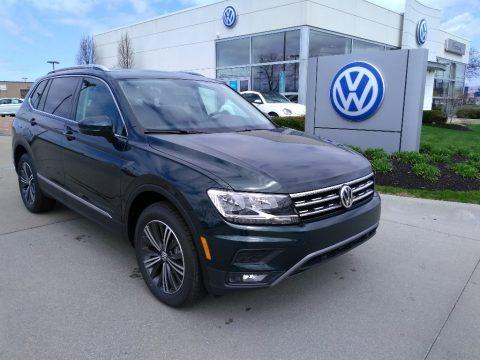 Dark Moss Green Metallic 2019 Volkswagen Tiguan SEL 4MOTION