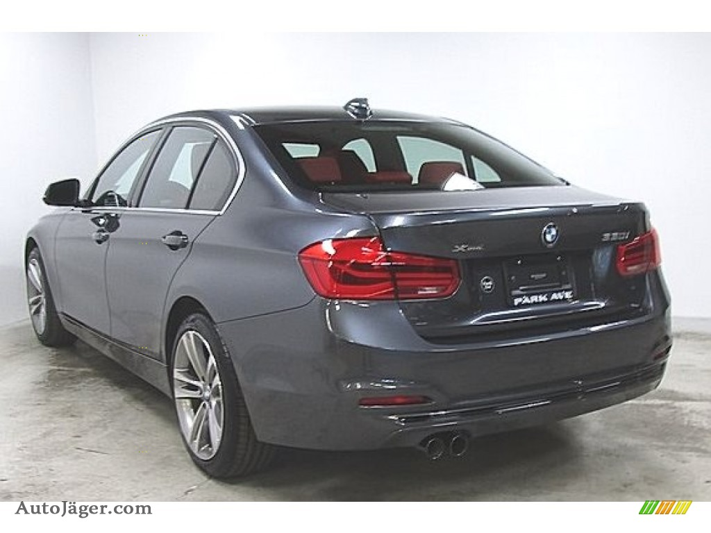 2018 3 Series 330i xDrive Sedan - Mineral Grey Metallic / Coral Red photo #1