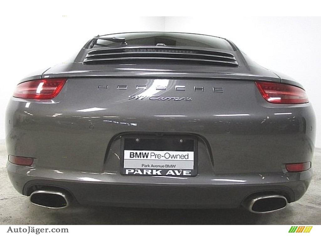 2015 911 Carrera Coupe - Agate Grey Metallic / Black photo #1