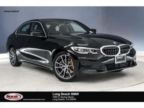 Jet Black 2019 BMW 3 Series 330i Sedan