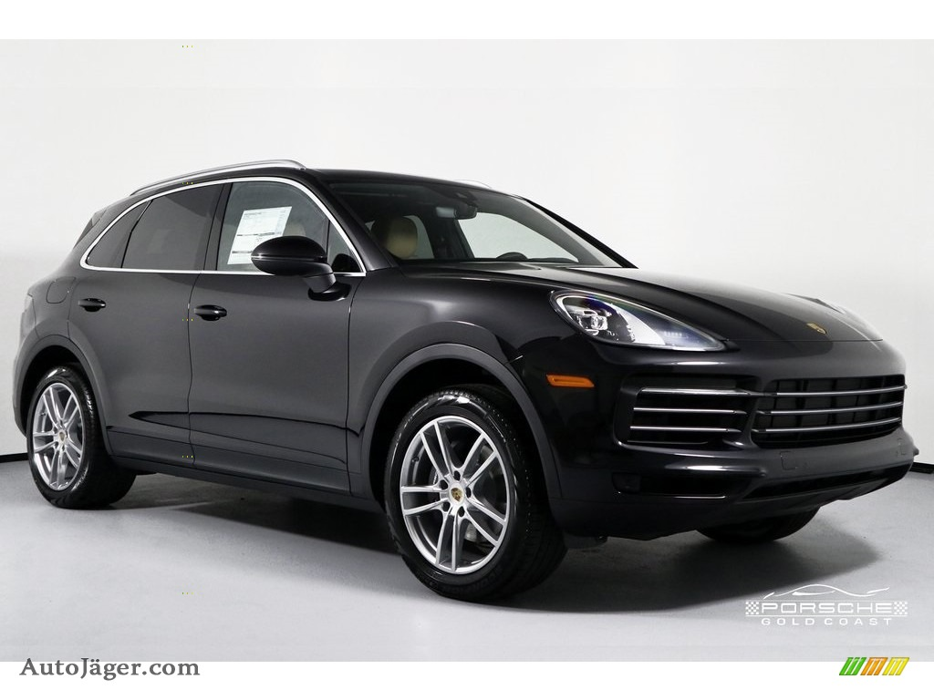 2019 Cayenne  - Black / Black/Mojave Beige photo #1