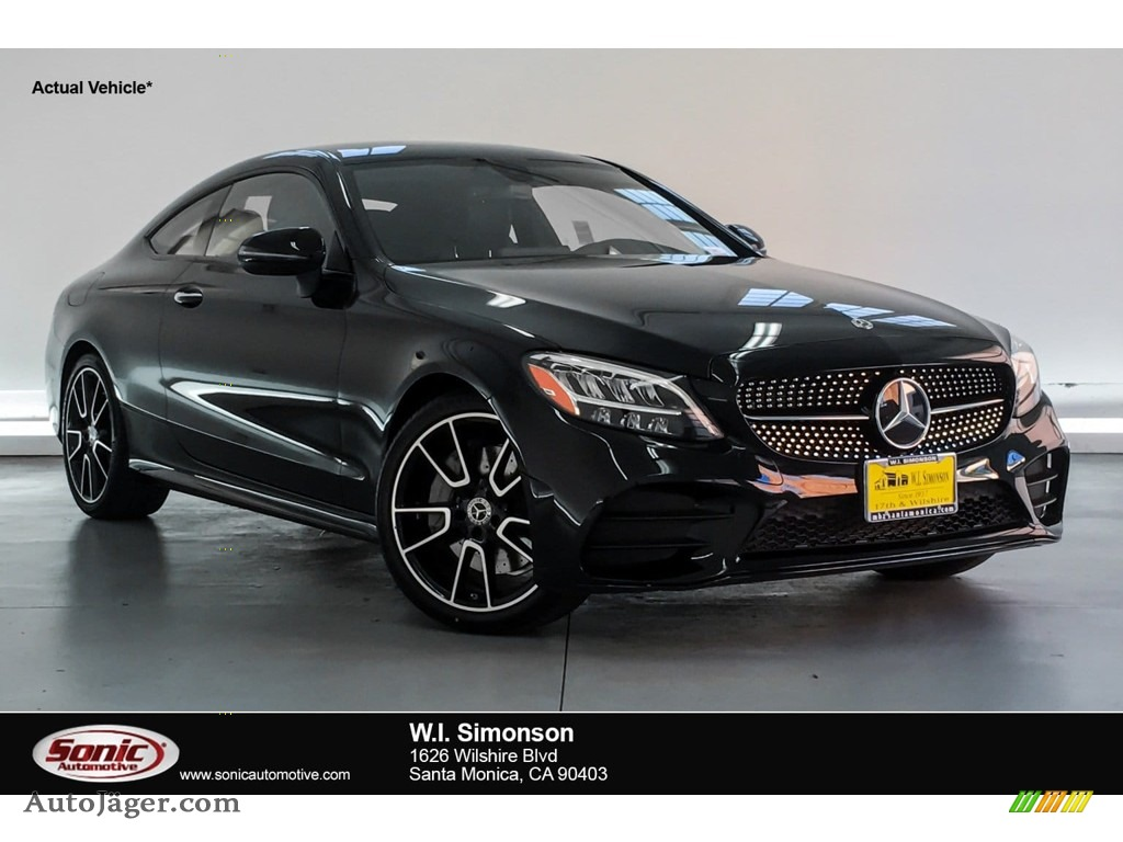 2019 C 300 Coupe - Black / Black photo #1
