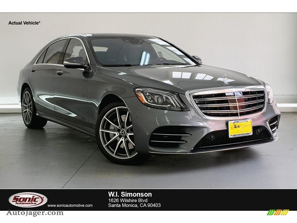 2019 S 450 Sedan - Selenite Grey Metallic / Black photo #1