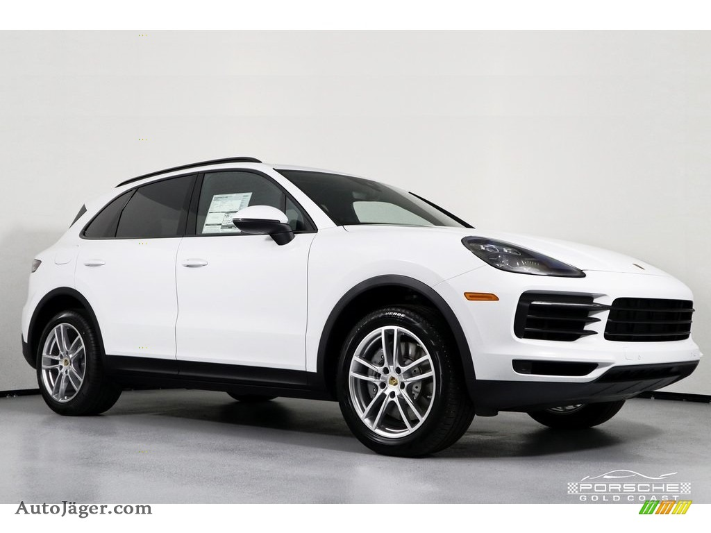 2019 Cayenne S - White / Black photo #1
