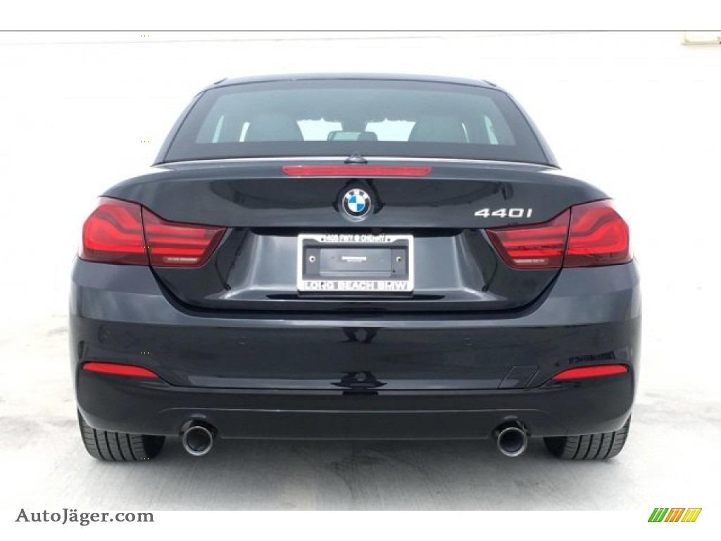 2020 4 Series 440i Convertible - Black Sapphire Metallic / Black photo #4