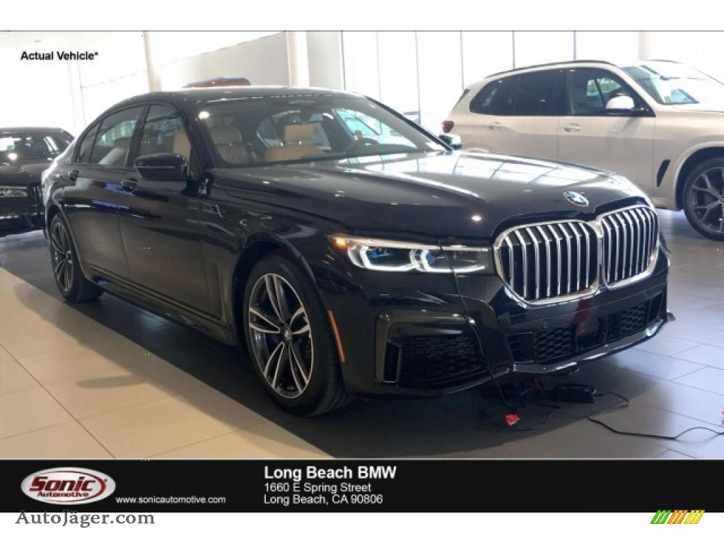 2020 7 Series 750i xDrive Sedan - Carbon Black Metallic / Cognac photo #1