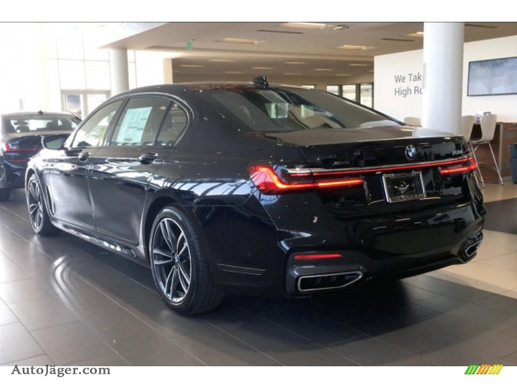 2020 7 Series 750i xDrive Sedan - Carbon Black Metallic / Cognac photo #3