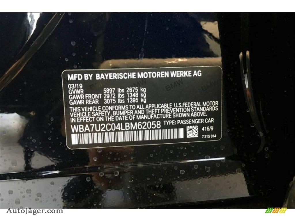 2020 7 Series 750i xDrive Sedan - Carbon Black Metallic / Cognac photo #8