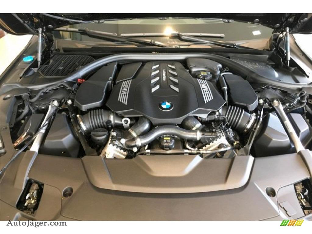 2020 7 Series 750i xDrive Sedan - Carbon Black Metallic / Cognac photo #9