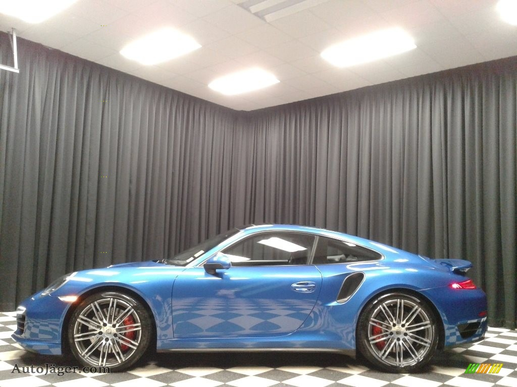 2016 911 Turbo Coupe - Sapphire Blue Metallic / Black photo #1