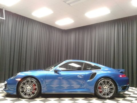 Sapphire Blue Metallic 2016 Porsche 911 Turbo Coupe