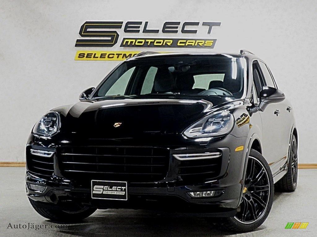 2017 Cayenne Turbo - Black / Black photo #1