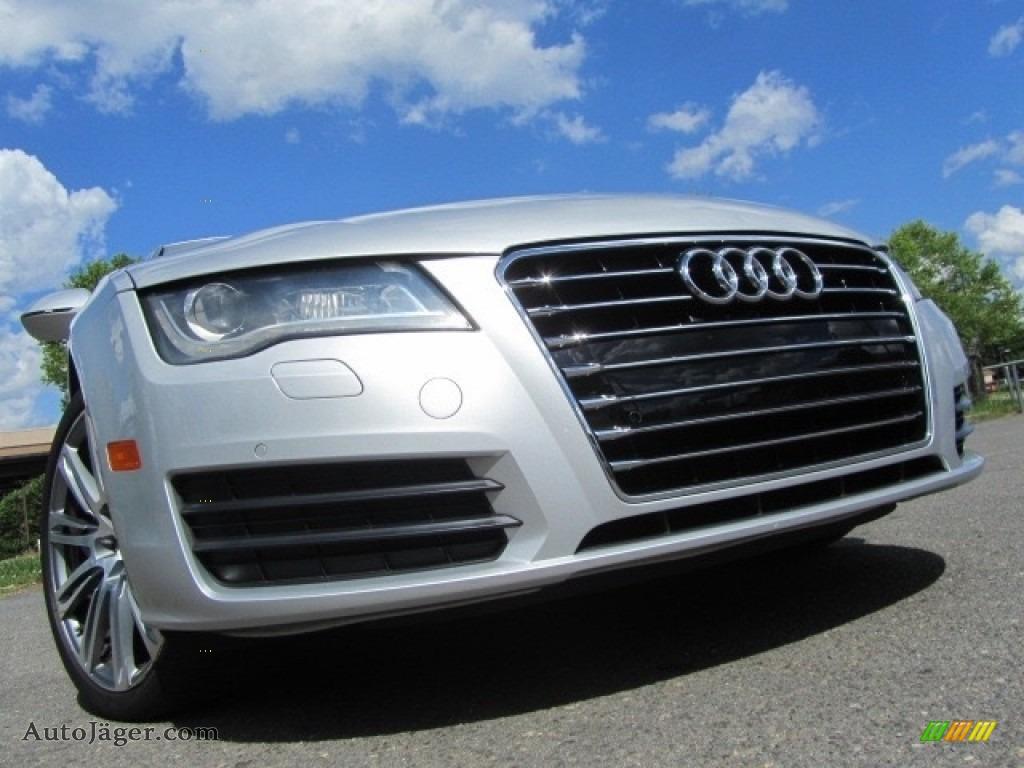 2012 A7 3.0T quattro Premium Plus - Ice Silver Metallic / Black photo #1