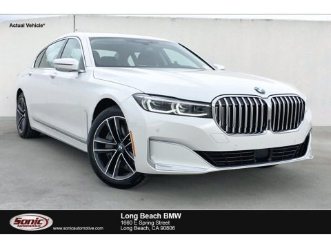 Mineral White Metallic 2020 BMW 7 Series 750i xDrive Sedan