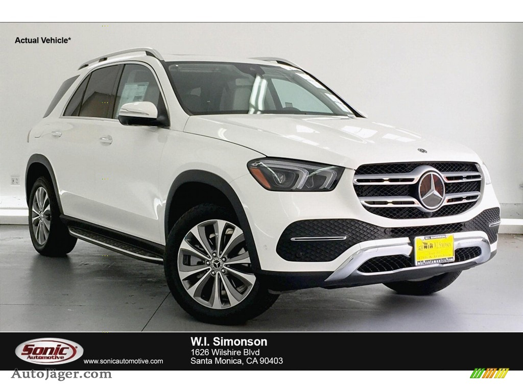 2020 GLE 350 4Matic - Polar White / Macchiato Beige/Magma Grey photo #1