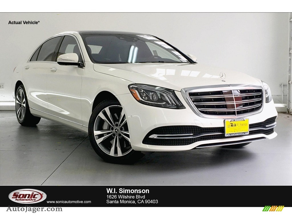 2019 S 450 Sedan - designo Diamond White Metallic / Black photo #1