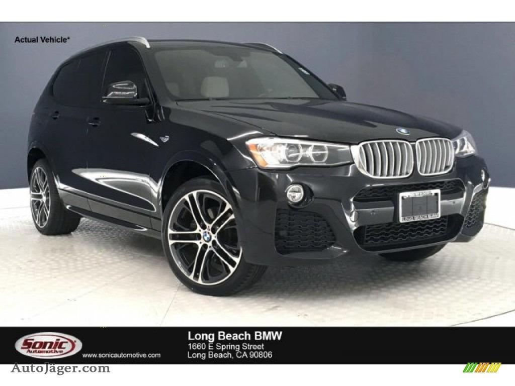 Black Sapphire Metallic / Ivory White BMW X3 xDrive28i