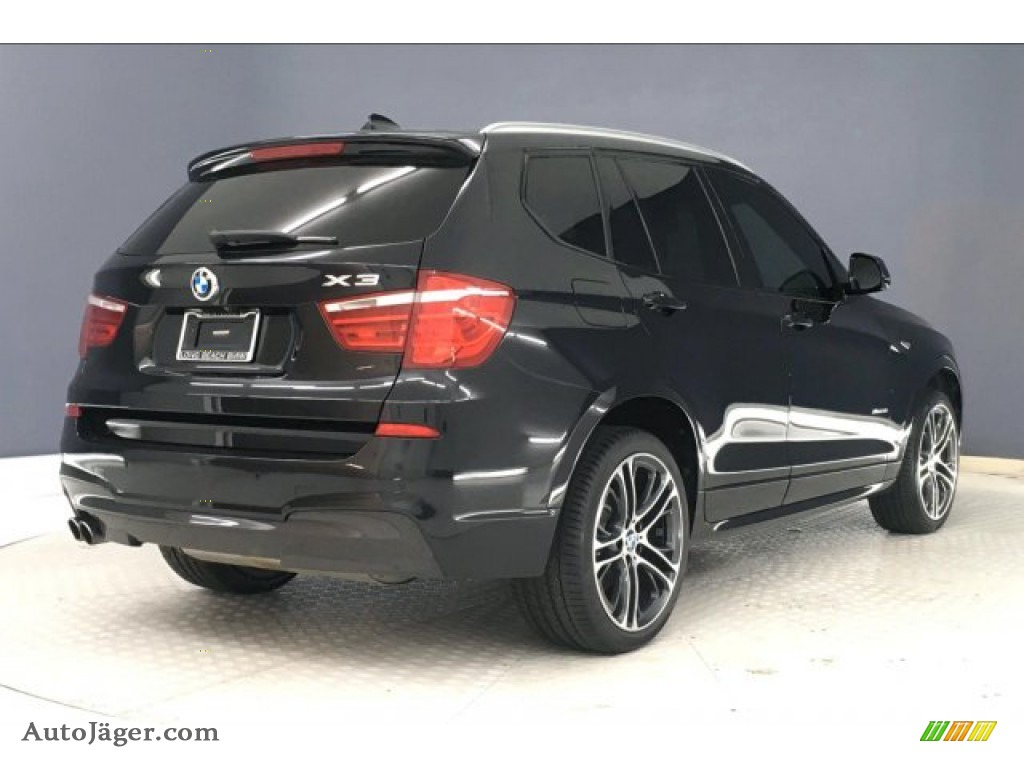 2016 X3 xDrive28i - Black Sapphire Metallic / Ivory White photo #30