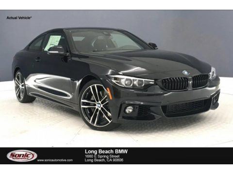 Black Sapphire Metallic 2020 BMW 4 Series 440i Coupe