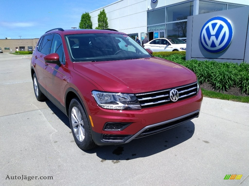 2019 Tiguan SE 4MOTION - Cardinal Red Metallic / Titan Black photo #1