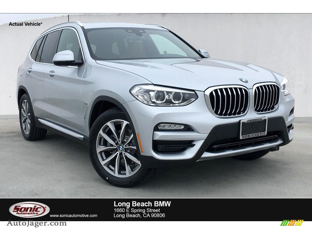 2019 X3 sDrive30i - Glacier Silver Metallic / Cognac photo #1