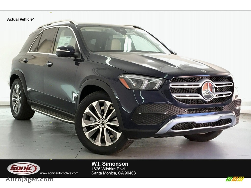 2020 GLE 350 4Matic - Lunar Blue Metallic / Macchiato Beige/Magma Grey photo #1