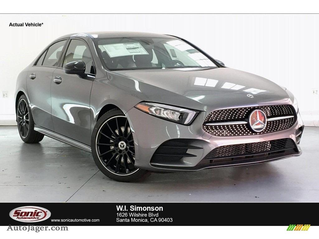 2019 A 220 Sedan - Mountain Grey Metallic / Neva Grey/Black photo #1