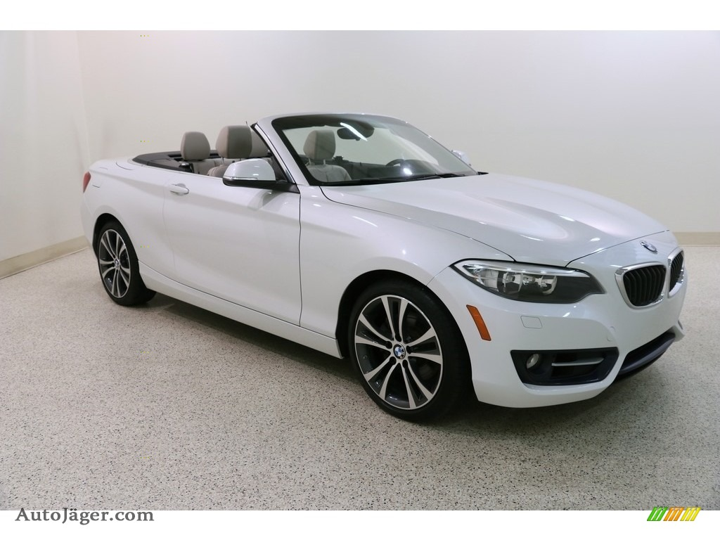 2016 2 Series 228i xDrive Convertible - Mineral White Metallic / Oyster photo #1