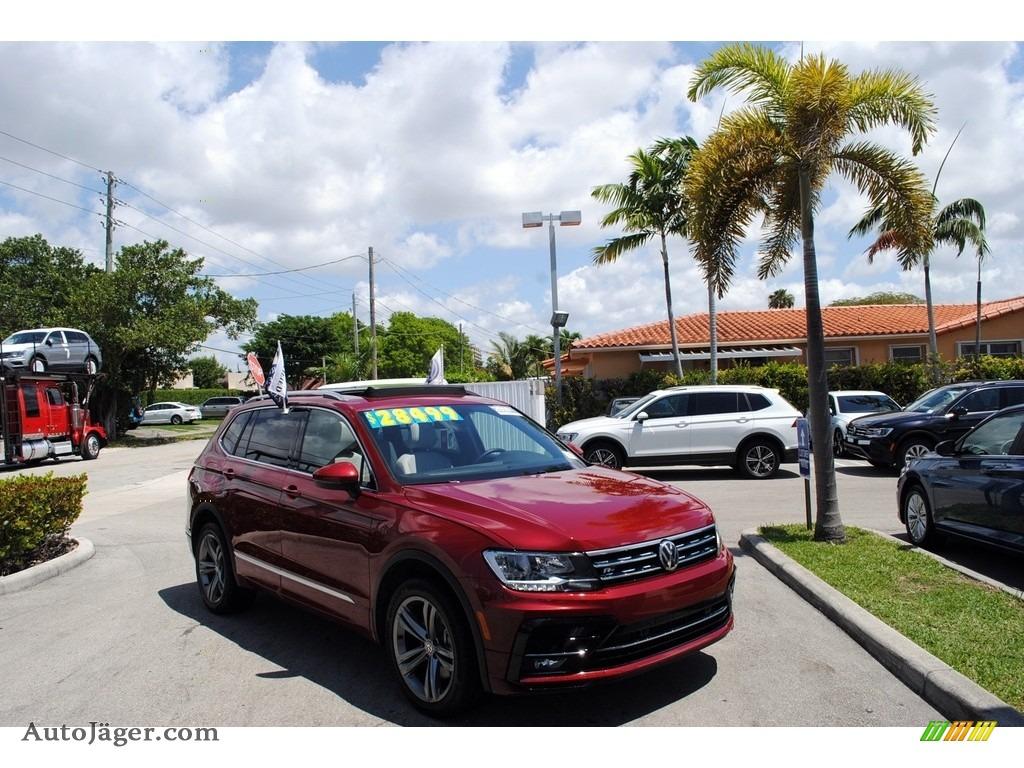 Cardinal Red Metallic / Storm Gray Volkswagen Tiguan SEL R-Line