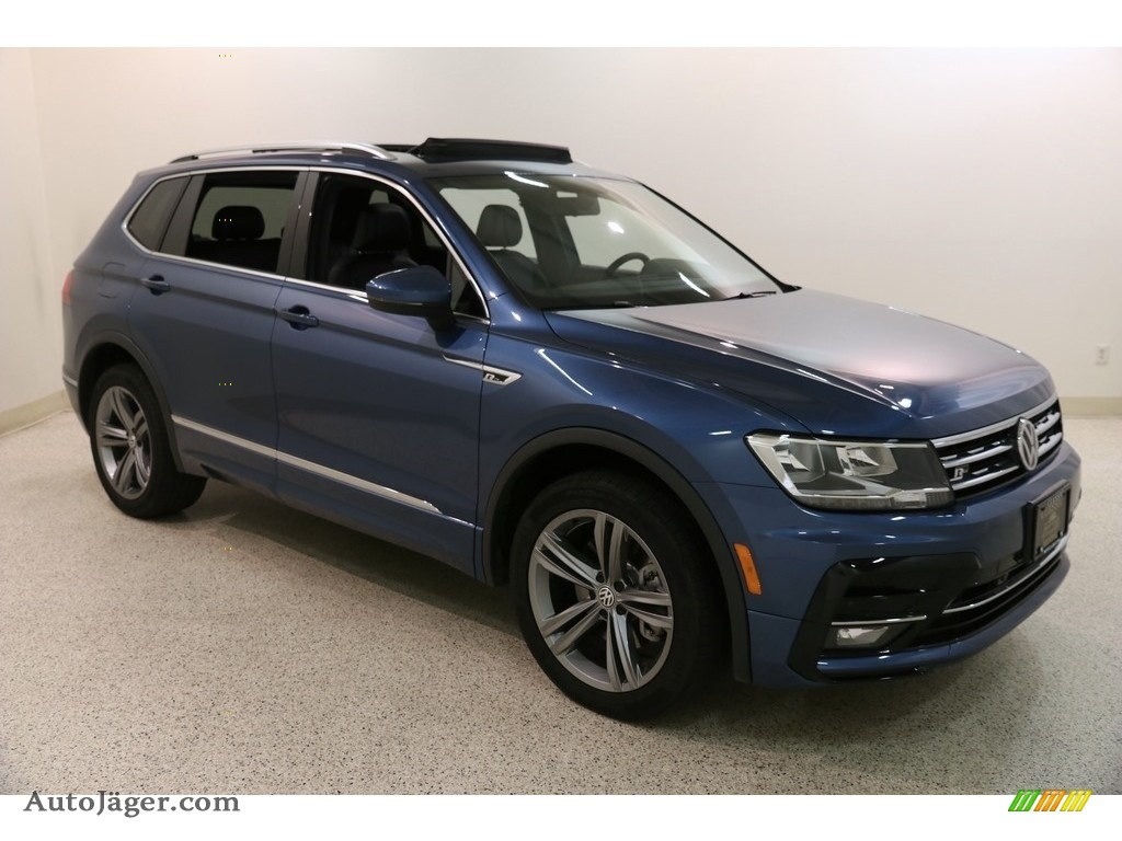 2019 Tiguan SEL R-Line 4MOTION - Blue Silk Metallic / Titan Black photo #1