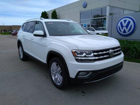 Pure White 2019 Volkswagen Atlas SEL 4Motion