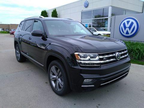 Deep Black Pearl 2019 Volkswagen Atlas SEL R-Line 4Motion