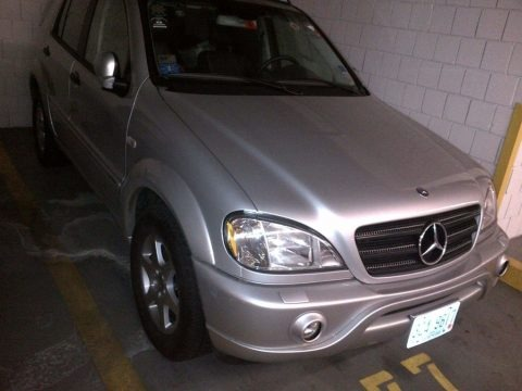 Brilliant Silver Metallic 2001 Mercedes-Benz ML 430 4Matic