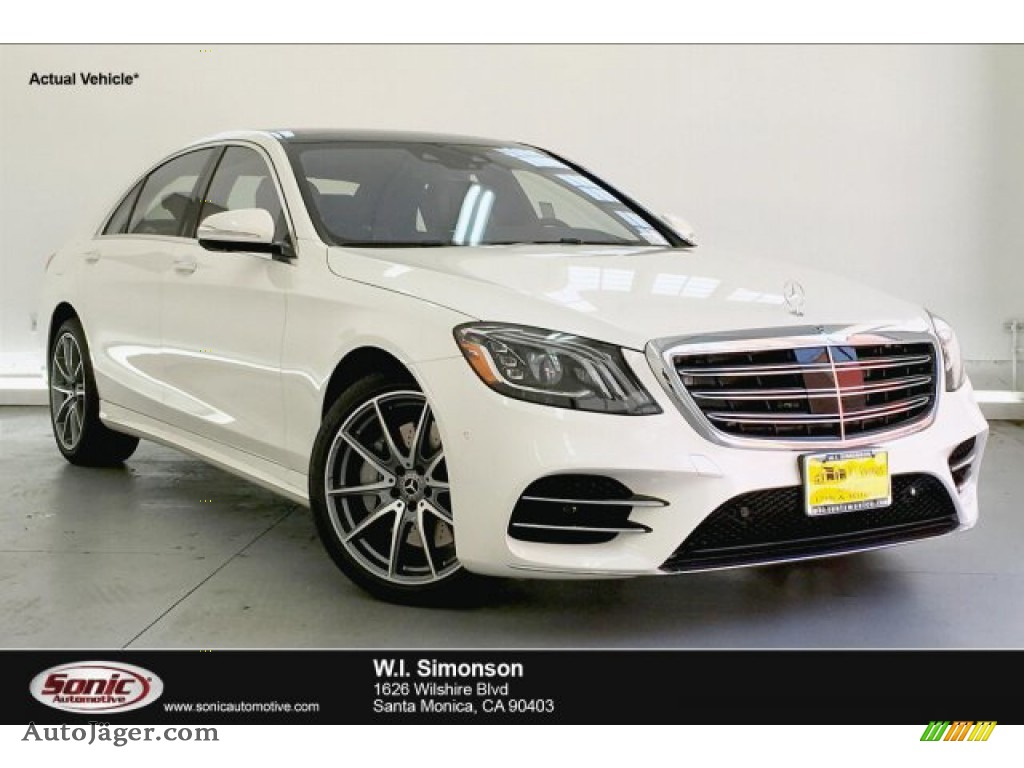 designo Diamond White Metallic / Nut Brown/Black Mercedes-Benz S 560 4Matic Sedan